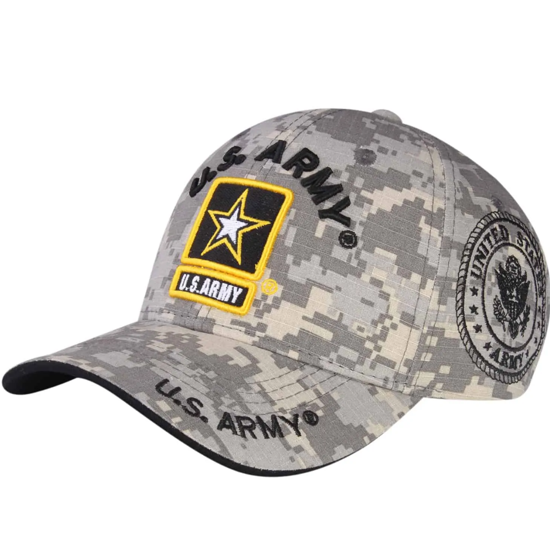 Imagine SAPCA US ARMY DELUXE LICENTA OFICIALA CAMO GREY
