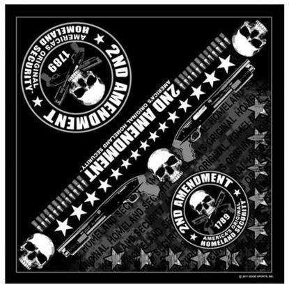 Imagine Bandana 2nd Amendment America's Original Homeland Security Bandana