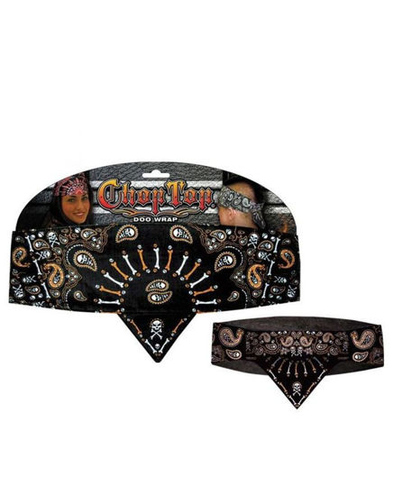 Imagine BANDANA CHOP TOP ORANGE SKULLIES