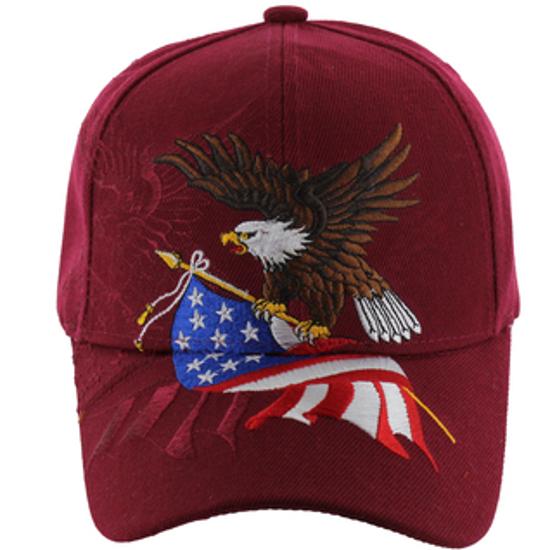 Imagine SAPCA AMERICAN EAGLE & FLAG BURGUNDY cod 86