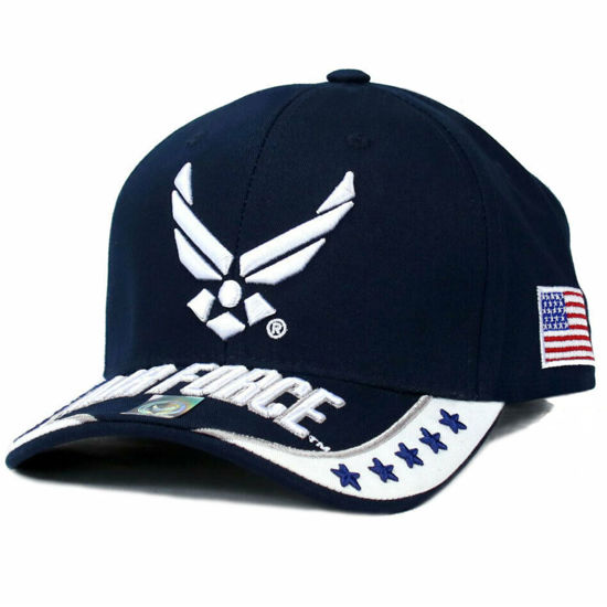 Imagine DELUXE US AIR FORCE OFFICIAL LICENSE CAP BLEUMARIN