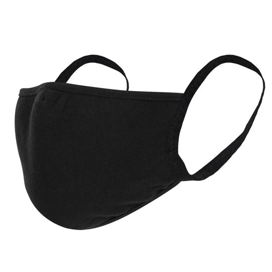 Imagine Masca de protectie neagra reutilizabila 3 straturi L/XL