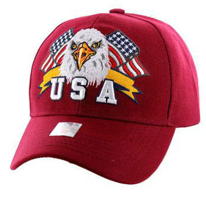 Imagine SAPCA AMERICAN USA EAGLE & FLAG BURGUNDY CODE 311