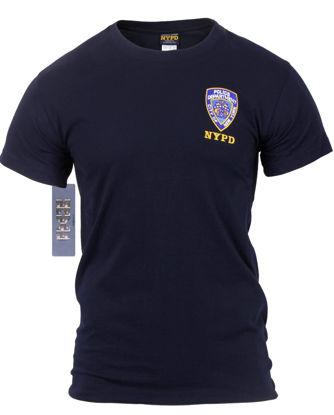 Imagine Tricou NYPD Licenta Oficiala Cu Emblema Brodata