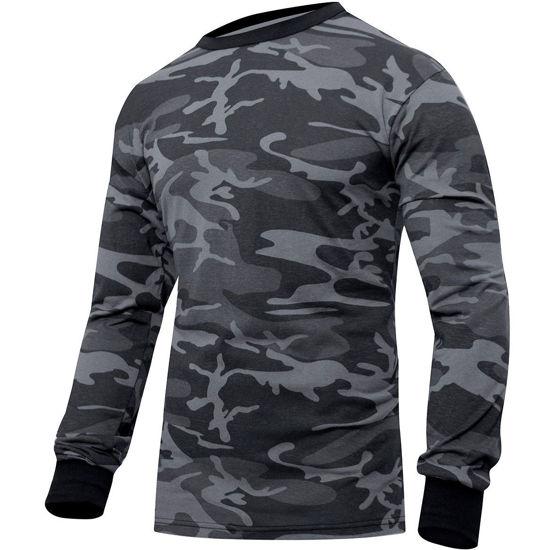 Imagine Tricou cu Maneca Lunga Colored Camo T-Shirt Marimi pana la 3XL