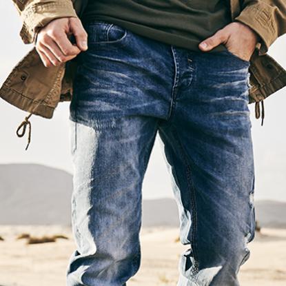 Imagine Pantaloni CLASSIC STRAIGHT DENIM JEANS TALIE 95CM