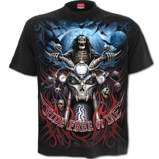 Imagine TRICOU RIDE FREE & ROCK IT! – T-Shirt Black