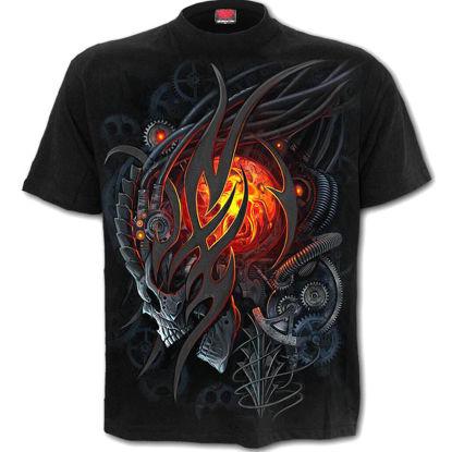 Imagine TRICOU THE MECHANIC SKULL T-shirt Black