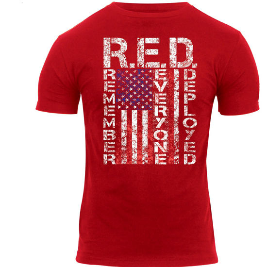 Imagine TRICOU Athletic Fit R.E.D. (Remember Everyone Deployed)