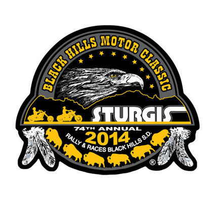 Imagine Emblema Motorcycle Rally Gold Composite Patch 10cm/10cm