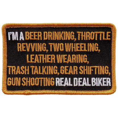 Imagine Emblema I am a real Biker Patch 10cm/7cm