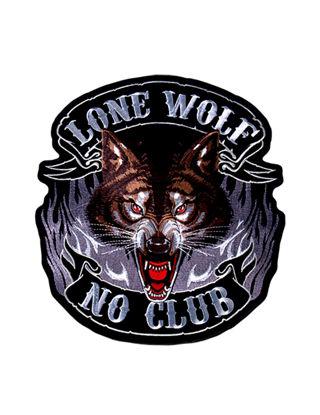 Imagine Emblema Lone Wolf, No Club Patch 10cm/10cm