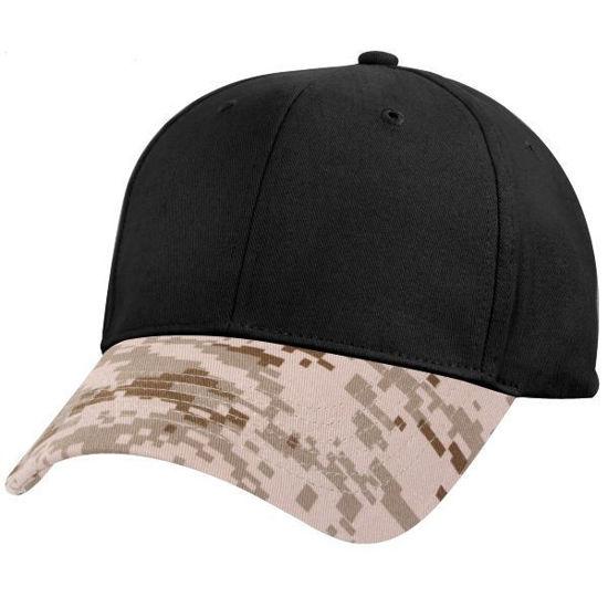 Imagine Sapca Premium Desert Camo/Black Bi Color 100% Bumbac