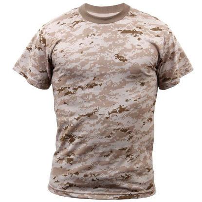 Imagine Desert Digital Camo T-Shirt marimi pana la 4XL
